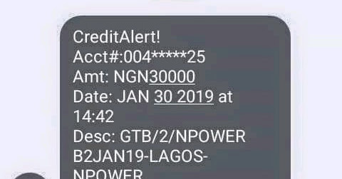 Npower Beneficiaries 2019 First Stipends Raining - January 30th
