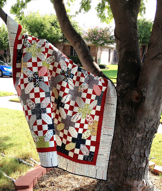 """Nough Said"" Layer Cake Quilt Free Tutorial"