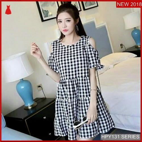 HPY131D155 Dress Siska Anak Kotak Murah BMGShop