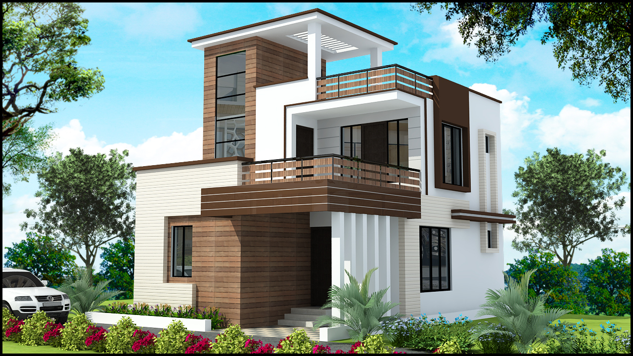 Ghar planner leading house plan and house design for Latest model home design
