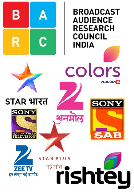 BARC (TRP) Ratings - Week 34th, August 2019 : Weekly BARC