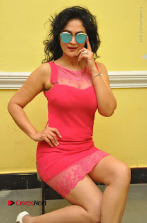 Telugu Actress Vijaya Murthy Stills in Red Short Dress at Www.Meena Bazaar Movie Opening  0026.JPG