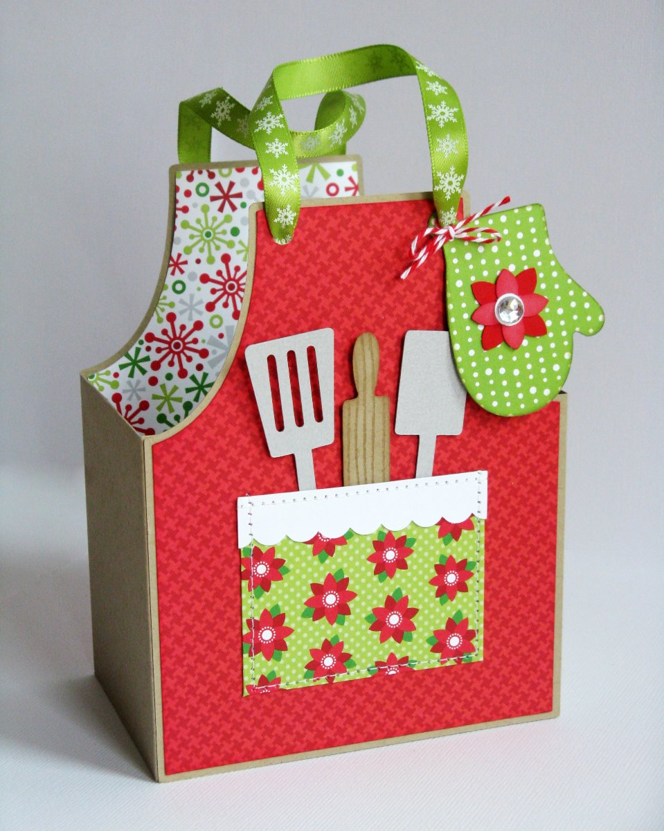 Lori Whitlock Cook's Apron Gift Box by Mendi Yoshikawa (using Doodlebug Home For the Holidays papers)