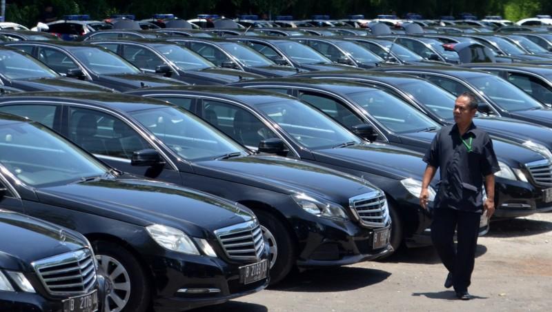 Deretan mobil mewah sewaan Raja Salman
