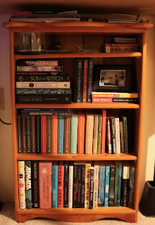 small book shelf under desk