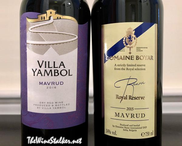 Villa Yambol Mavrud 2016 & Domaine Boyar Royal Reserve Mavrud 2015