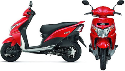 New Honda Dio Red side front view image
