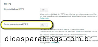 redirecionamento http para https no blog