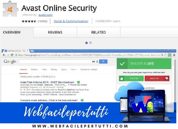 Avast Online Security | Estensione Per Navigare Online Sicuri e Protetti