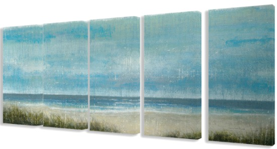 Beach Canvas Panorama 5 Piece Set