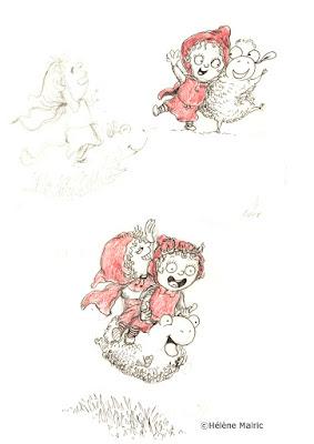 """illustration """"petit chaperon rouge"""" recherche de personnage character design"""