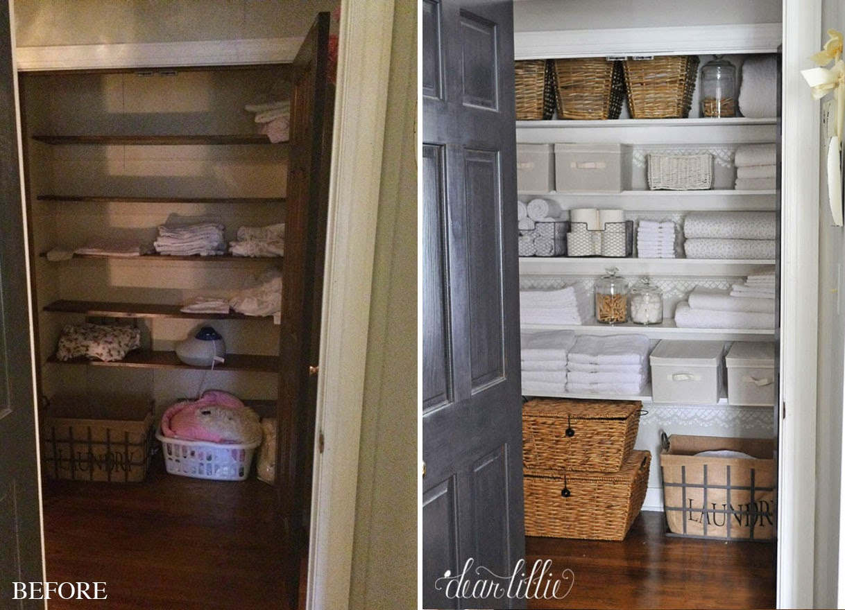 Dear Lillie Our Linen Closet Makeover