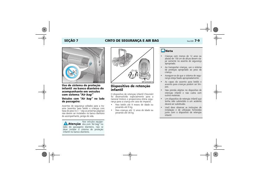 MANUAIS DO PROPRIETÁRIO: MANUAL DO VECTRA SEGUNDA GERAÇÃO (B)