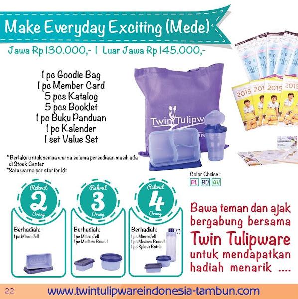 Paket Member MEDE Baru Tulipware 2016 | Starter Kit | Kit Bag
