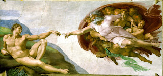 The Creation of Adam is the most famous scene depicted on the ceiling of the Sistine Chapel