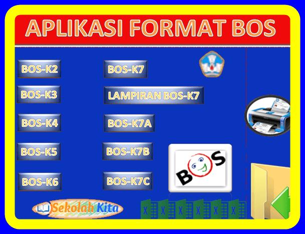 Download Aplikasi Format  BOS K2 K3 K4 K5 K6 K7 K7A K7B K7C Lengkap