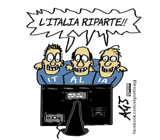 italia -belgio, governo, italia, tv, calcio, euro 2016, sport, satira, vignetta