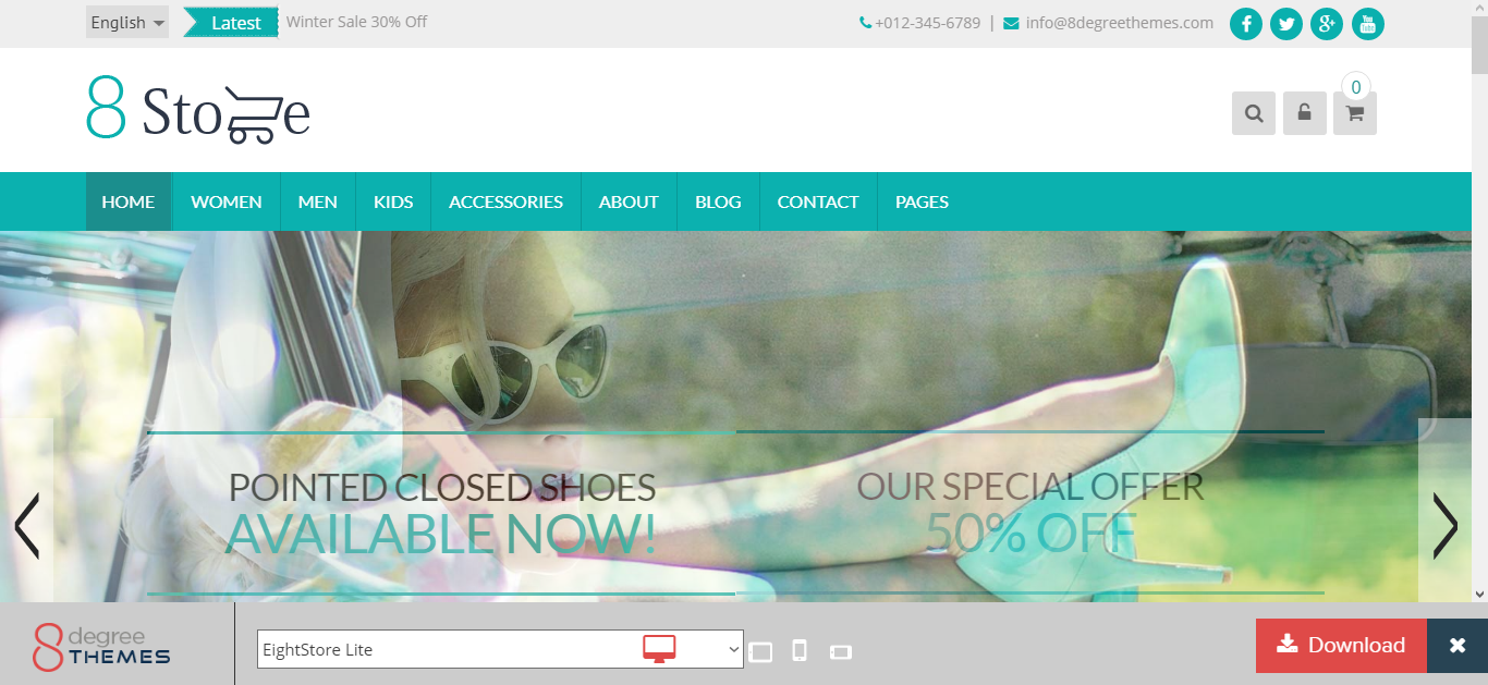 EightStore Lite Wordpress Ecommerce Theme Free Download - Get any ...