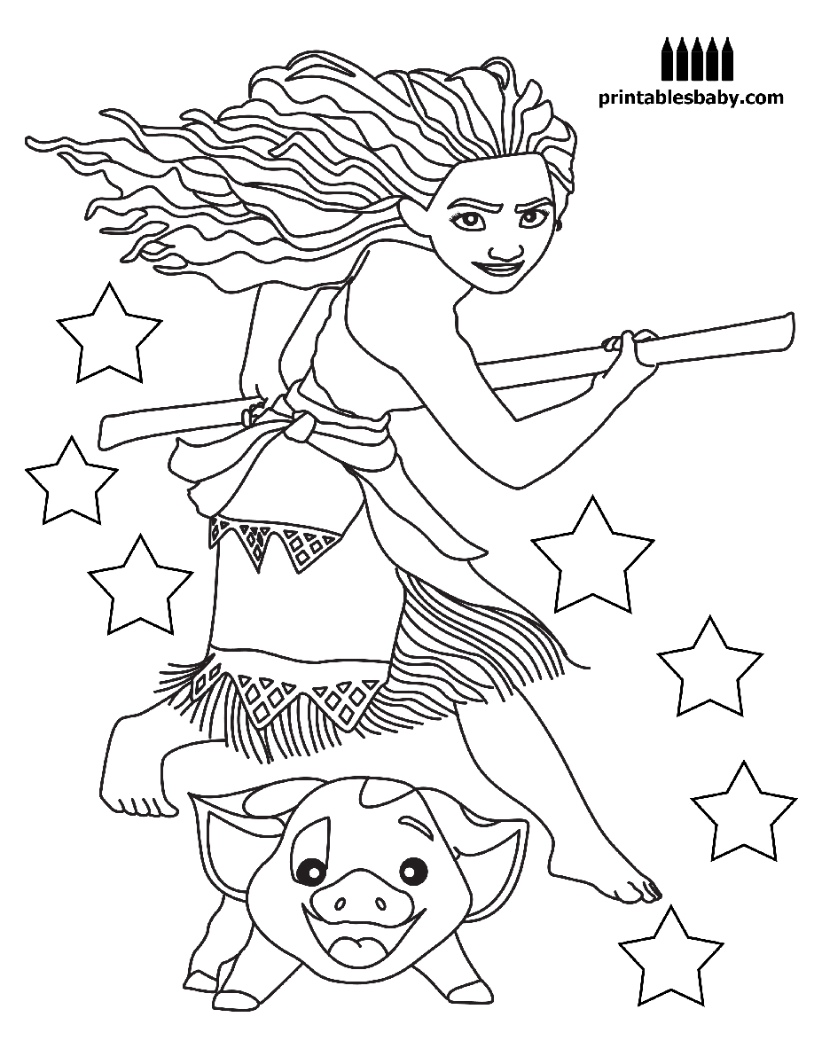 Selective image pertaining to printable moana coloring pages