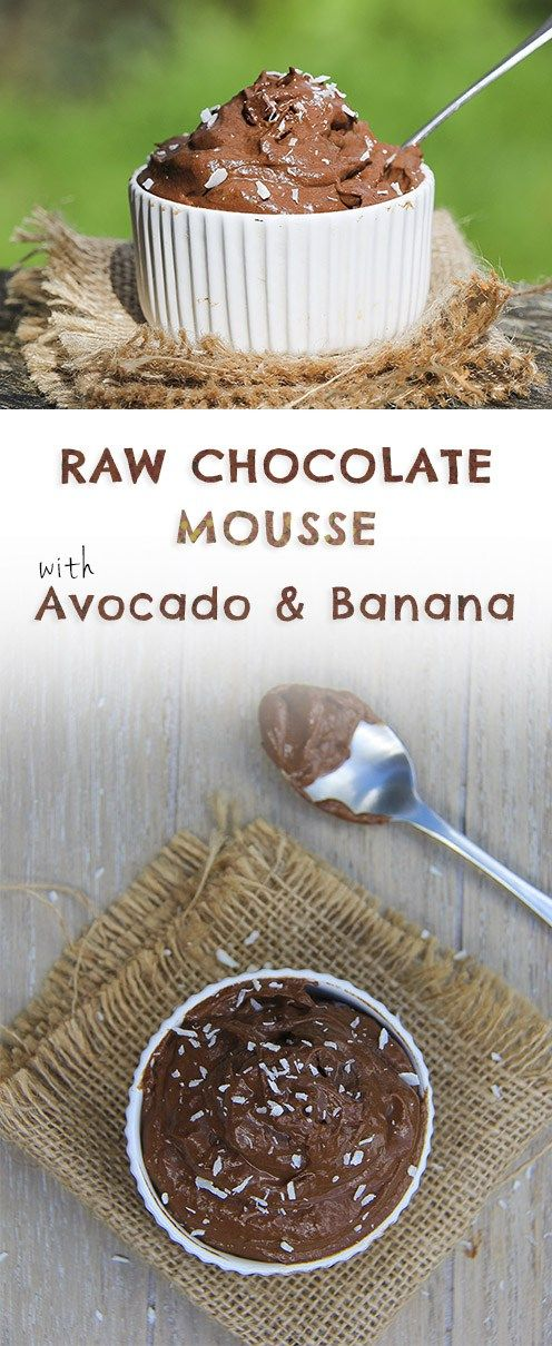 Raw Chocolate Mousse Recipe with Avocado & Banana