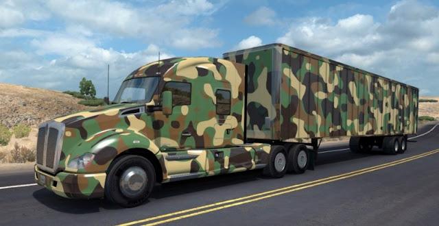 modidikasi truk trailer ala militer paling keren