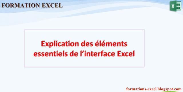 Explication des éléments essentiels de l'interface Excel