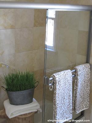 Simple Details Painted Faucets Amp Shower Enclosure