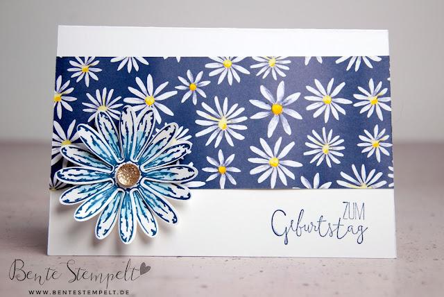 Stampin Up Gänseblümchengruß Stanze Gänseblümchen Designerpapier Gänseblümchen Stempelset Für besondere Anlässe zum Geburtstag