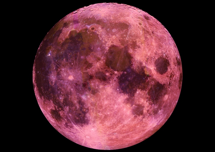 Full Pink Moon: Credit NASA
