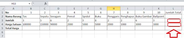 Cara Menjumlahkan Di Excel 4