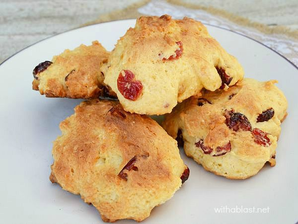 Cranberry Rock Cakes have a super soft center, with a hard, textured outer - ideal with your morning coffee, mid morning treat or pop one or two into the lunch boxes