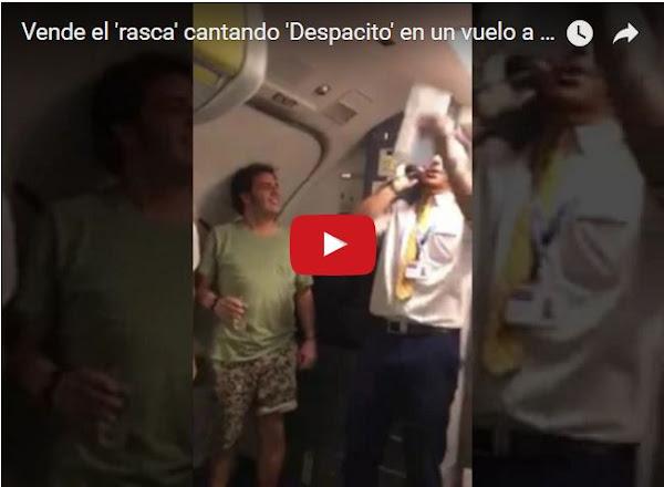 Tripulación canta Despacito en un vuelo especial de Gran Canarias