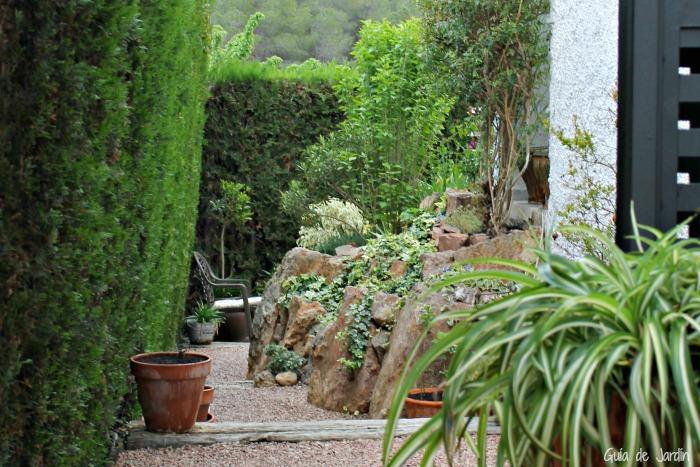 El lateral del jardín