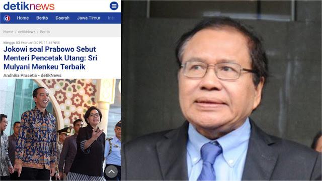 Belain Sri Mulyani soal Menteri Pencetak Utang, Jokowi Kena 'Skak' Rizal Ramli