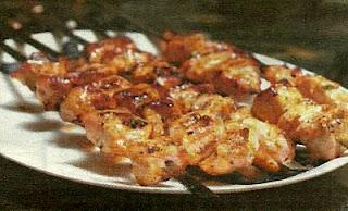 Шашлык из курицы или индейки в маринаде из грецких орехов