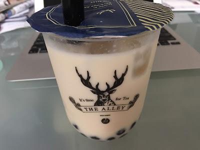 ジアレイの小山緑茶タピオカミルクティー
