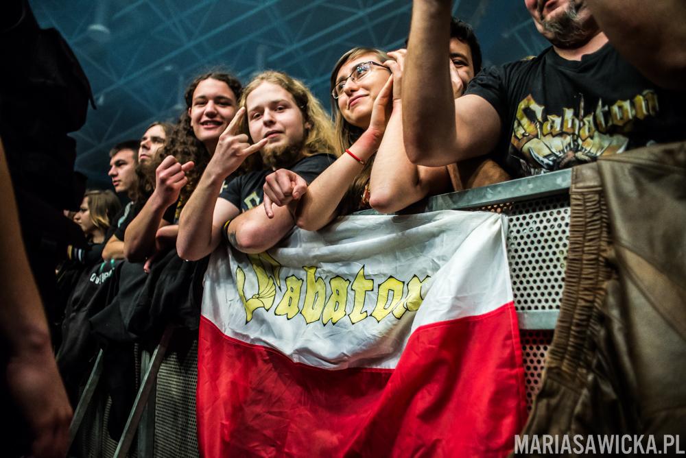 Heroes On Tour Europe 2015 Wrocław hala orbita Sabaton tłum publiczność fani