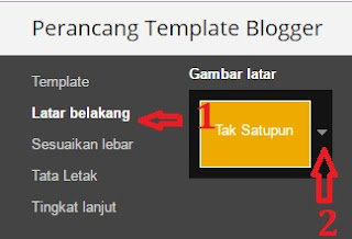 Cara mengganti background di blogspot