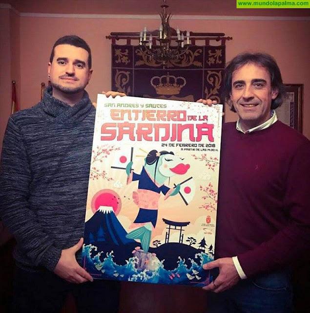 Fabio Pérez Concepción ganador del concurso del cartel de las fiestas de invierno en San Andrés y Sauces