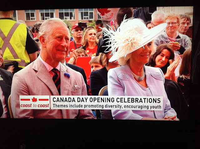 Screenshot CBC coverage Canada 150, Ottawa - Camilla and Prince Charles seem to be enjoying the celebration