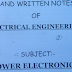 Electrical Engineering Power Electronics Hand Written Lecture Notes PDF - Study Material