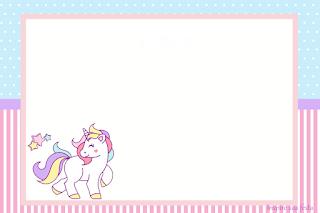 Unicornio Tarjetas Invitaciones Y Etiquetas Para Candy