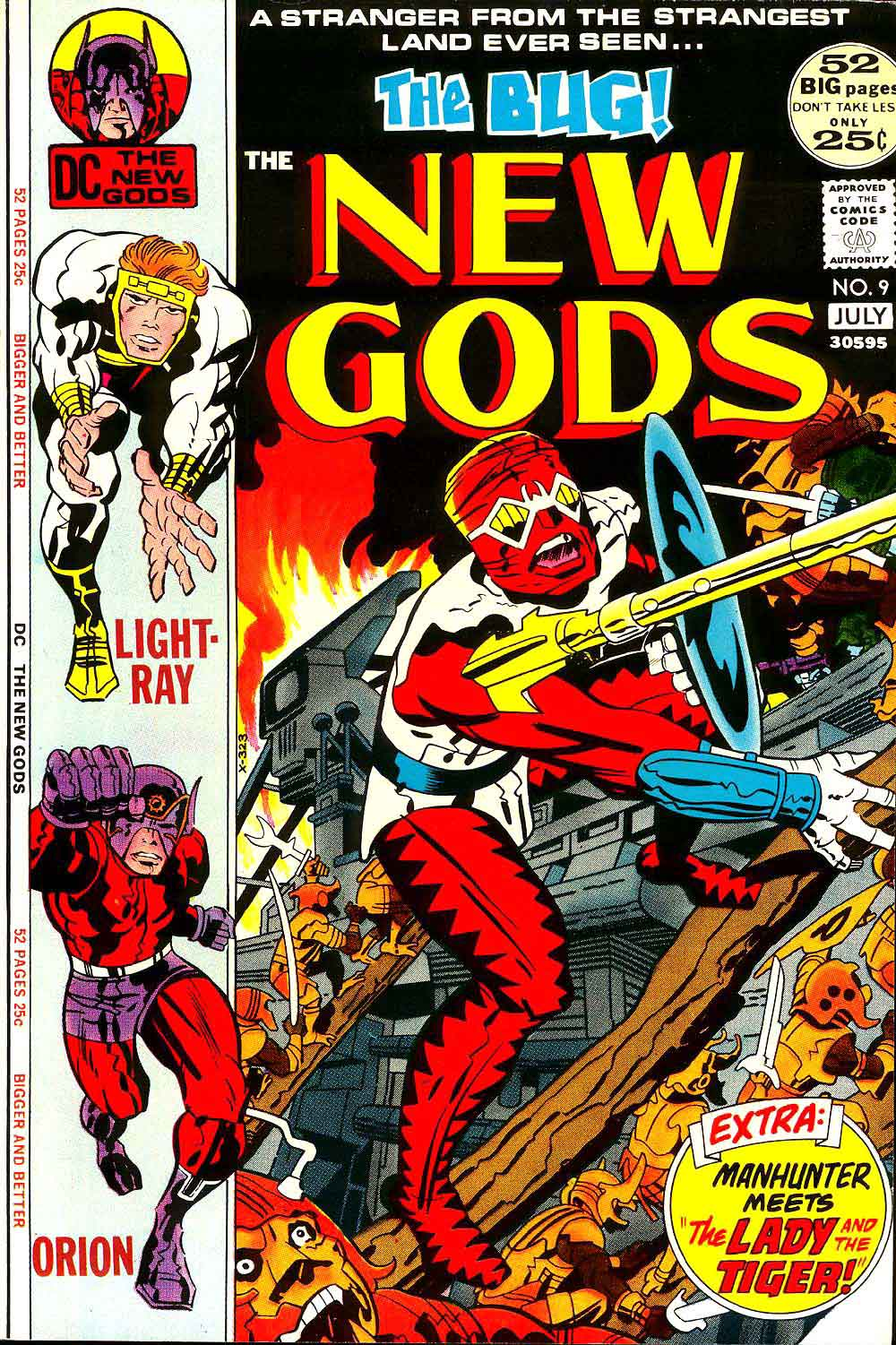 New Gods v1 #9 dc bronze age comic book cover art by Jack Kirby