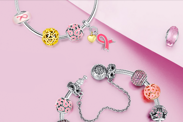 Glamulet charms Octobre Rose Cancer du Sein