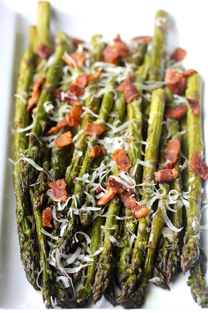 Roasted Asparagus with Bacon and Parmesan