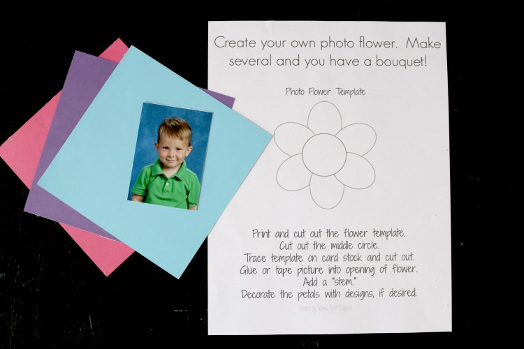 Photo Flower Printable Template