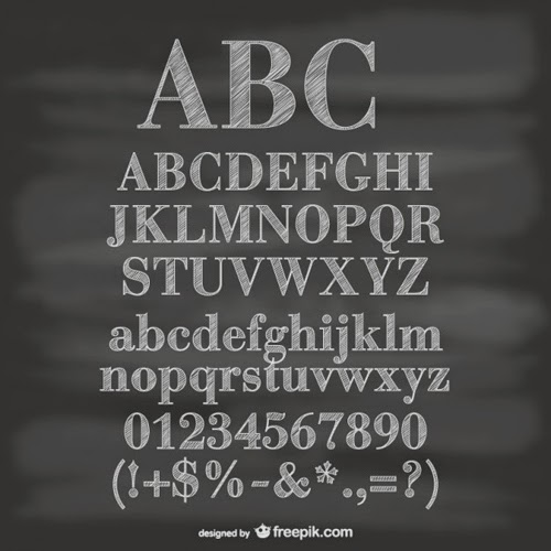 Alfabeto Tiza Vectorial