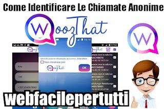Come Scoprire e Identificare Chi  Fa Chiamate Anonime Usando L' Applicazione WoozThat