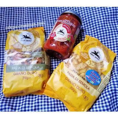 Pasta Organik Alce Neco, pasta alce neco, pasta organik, pasta sayur, pasta untuk kanak-kanak