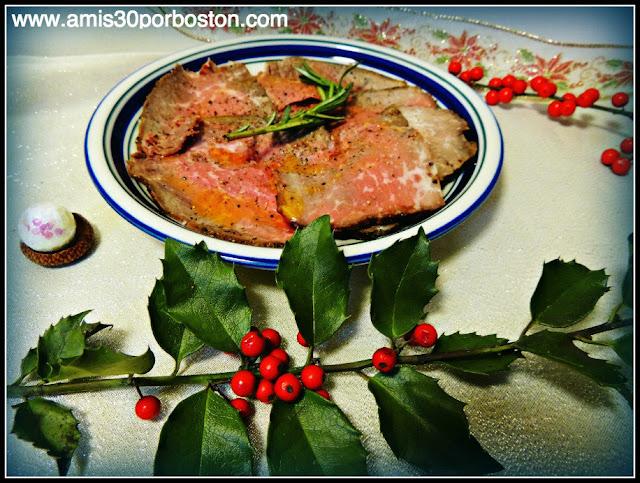 Roast Beef con Salsa Gravi